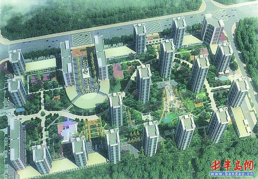 开发区辛安公共租赁住房规划效果图.-青岛开发区建3600套公租房 外